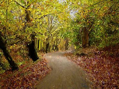Forest Pathway Print by Bruce Nutting
