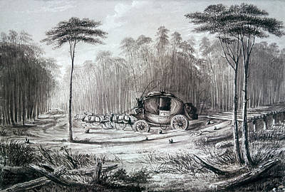 Forest Road, 1836 Print by Granger