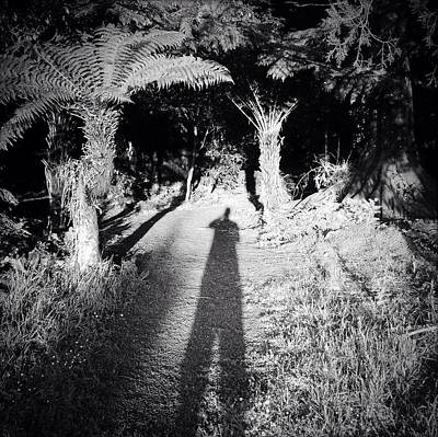 Self Photograph - Forest Shadow by Les Cunliffe