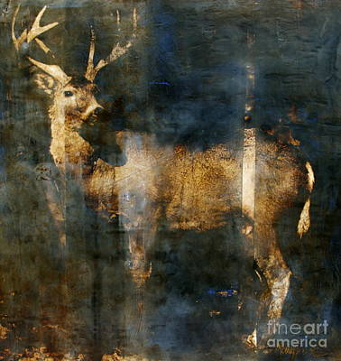 Encaustic Painting - Forest Soul by Mary Leslie