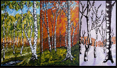 Painting - Forest Triptych by Zeke Nord