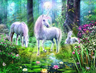 Unicorn Photograph - Forest Unicorn Family by Jan Patrik Krasny