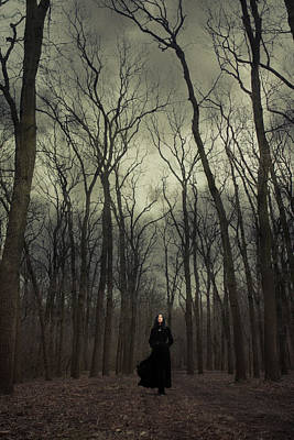 Bare Trees Photograph - Forest Witch by Cambion Art