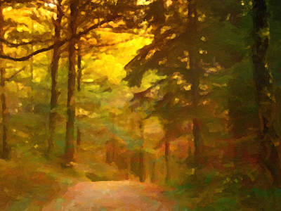 Forestlight Print by Impressionist Art