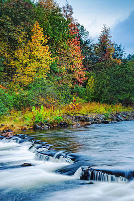 Bow Lake Photograph - Foretelling Of A Storm Beaver's Bend Broken Bow Fall Foliage by Silvio Ligutti
