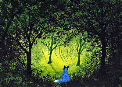 Blue Healer Painting - Forever Forest by Todd Young