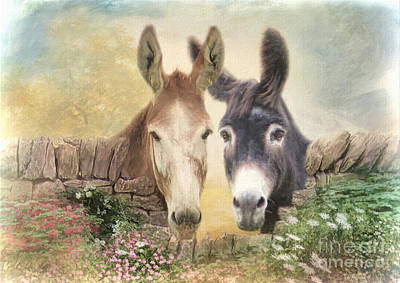 Donkey Mixed Media - Forever Friends by Trudi Simmonds