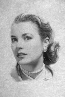 Grace Kelly Drawing - Forever In Our Hearts by Stefan Kuhn
