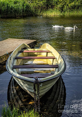 Forgotten Boat Print by Adrian Evans