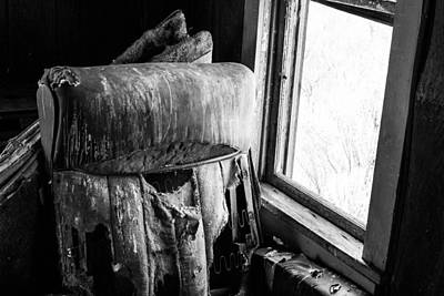 Abandoned Photograph - Forgotten Chair By The Window by Nathan Hillis