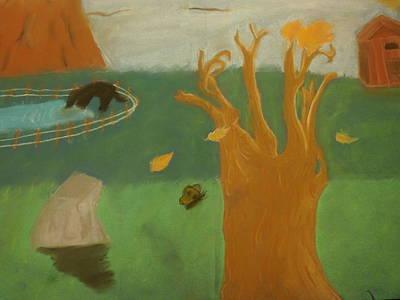 Joshua Massenburg Pastel - Forgotten Child Hood by Joshua Massenburg