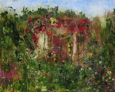 Haunted House Painting - Forgotten Cottage by Lianna Klassen