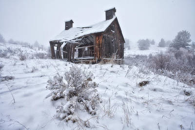 Winter Scenes Photograph - Forgotten In Time by Darren  White