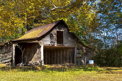 Fall Photograph - Forgotten North Georgia Barn by Mark E Tisdale
