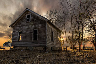 Abandoned House Photograph - Forgotten V by Aaron J Groen