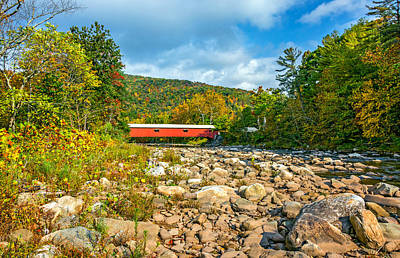 Fall Photograph - Forksville Covered Bridge 2 by Steve Harrington