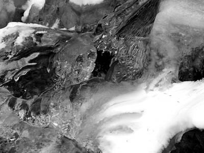 Formed Ice Skull Print by Thomas Samida