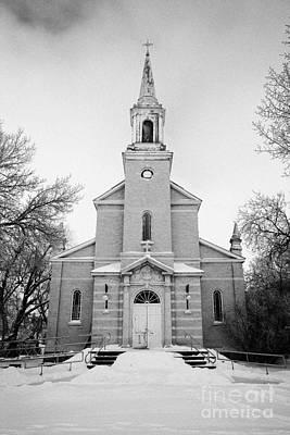 former st josephs catholic church in Forget Saskatchewan Canada Print by Joe Fox