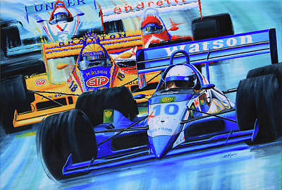 Kids Sports Art Painting - Formula 1 Race by Hanne Lore Koehler