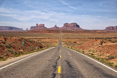 Forrest Gump Monument Valley View Print by Melany Sarafis