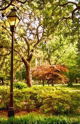 Forsythe Park View Print by Diana Powell