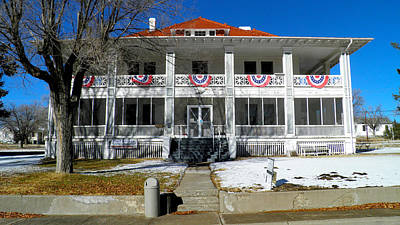 Fort Bayard Commandant's House Print by Feva  Fotos