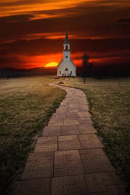 Belmont Photograph - Fort Belmont Sunset 2014 by Aaron J Groen