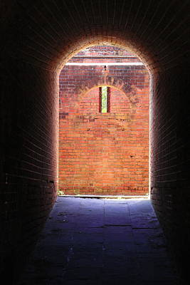 Fort Clinch Tunnel 2 Print by Cathy Lindsey
