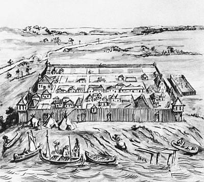 Fort Detroit, 1749 Print by Granger