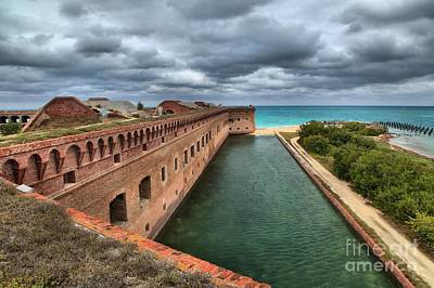 Fort Jefferson Moat Print by Adam Jewell