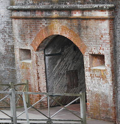 Ocean Photograph - Fort Macon Entrance by Cathy Lindsey
