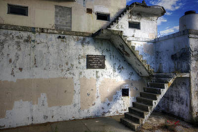 Mess Photograph - Fort Stark Stairs by Eric Gendron