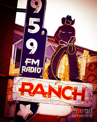 Squint Photograph - Fort Worth Radio by Sonja Quintero