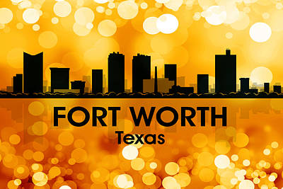 Fort Worth Tx 3 Print by Angelina Vick