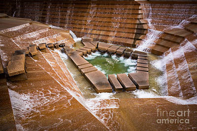 Downtown Stairs Photograph - Fort Worth Water Gardens by Inge Johnsson