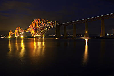 Best Photograph - Forth Rail Bridge With Train by Marcia Colelli
