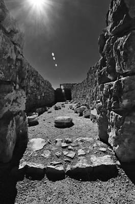 Fortress Of Masada Israel 2 Print by Mark Fuller