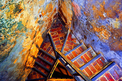 Fortress Steps Print by Stephen Anderson
