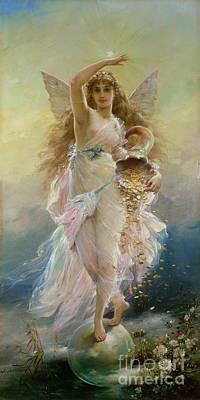 Prosperity Painting - Fortuna by Jean Francois Armand Felix Bernard