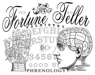 Skull Cards Mixed Media - Fortune Teller by Daniel Hagerman