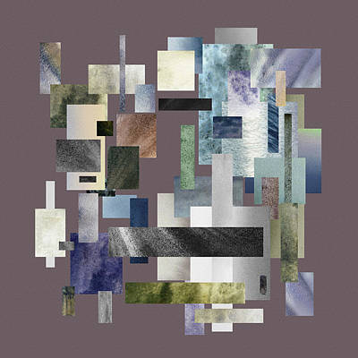 Fifty Shades Of Grey Painting - Forty Nine Shades Of Gray II by Irina Sztukowski