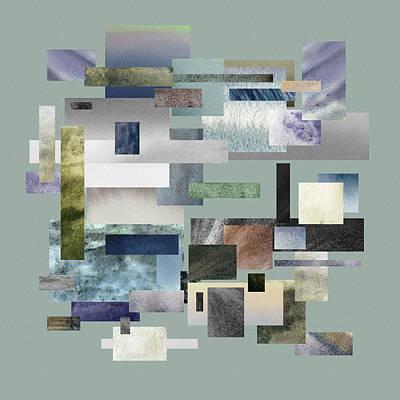 Fifty Shades Of Grey Painting - Forty Nine Shades Of Gray IIi by Irina Sztukowski