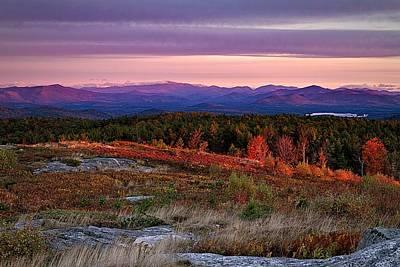 Autumn Scene Photograph - Foss Mountain Sunrise Eaton Nh by Jeff Sinon