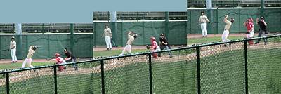 Foul Ball 3 Panel Composite Print by Thomas Woolworth