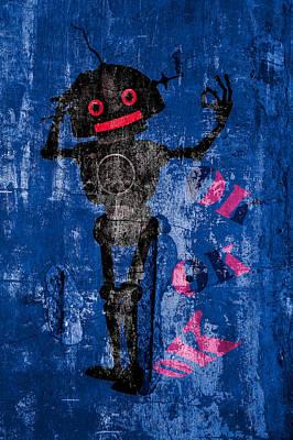 Foundation Number 102 Robot Graffiti  Print by Bob Orsillo