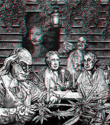 Thomas Jefferson Drawing - Founding Fathers 3d by MH Heintz