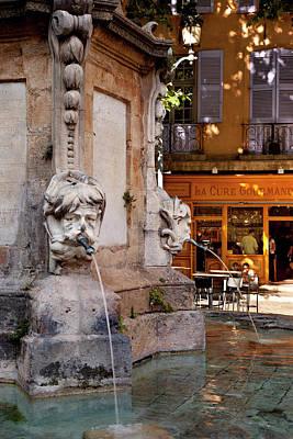 Provence Photograph - Fountain At Place De L'hotel De Ville by Brian Jannsen