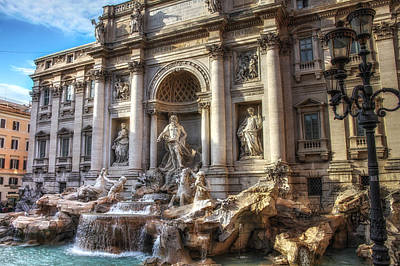 Satue Photograph - Fountain Di Trevi Rome by Timothy Denehy