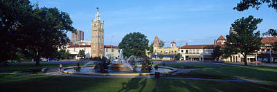 Fountain In A City, Country Club Plaza Print by Panoramic Images