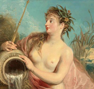 Antoine Watteau Painting - Fountain Nymph by Antoine Watteau